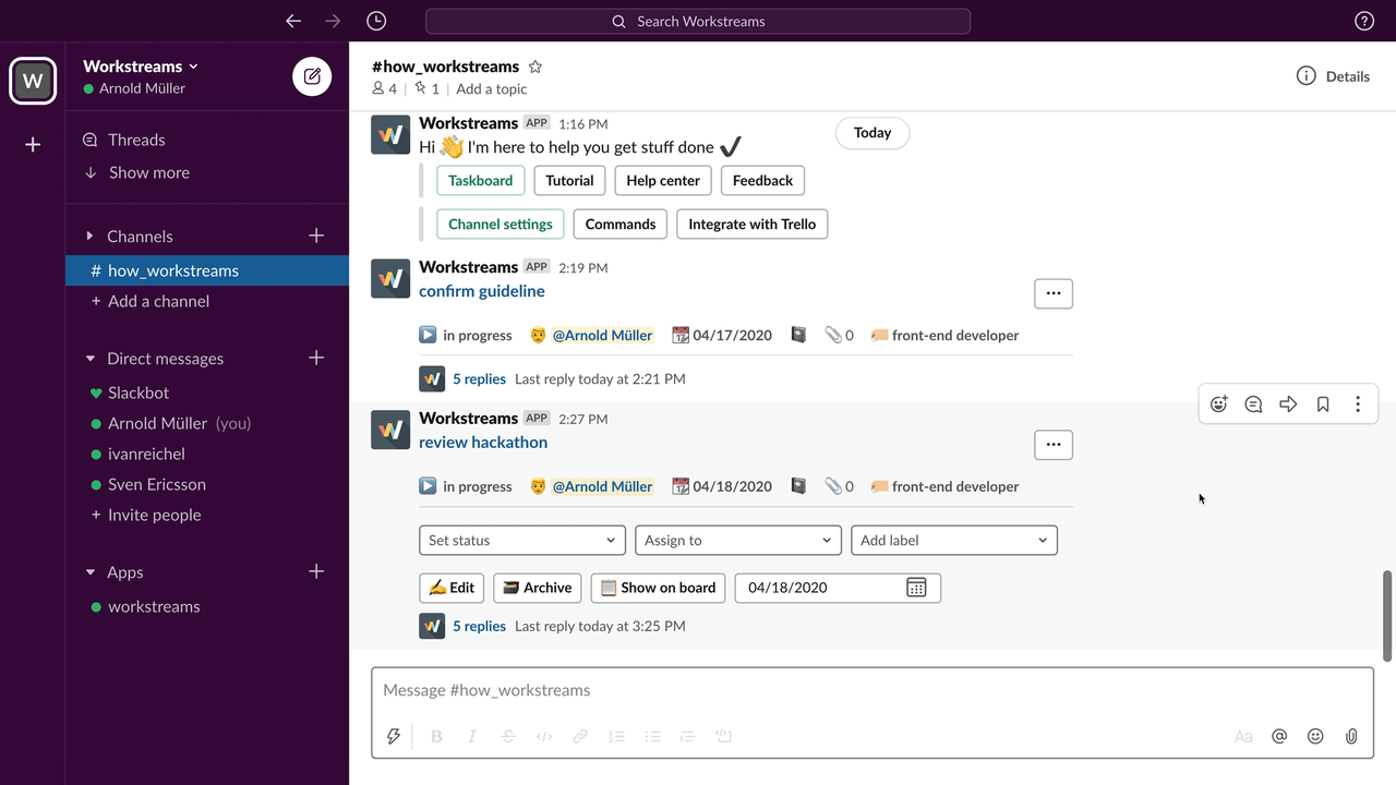 Task Management Support   Workstreams ai